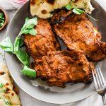 Tandoori chicken with apple riata